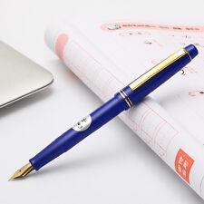 New Version Pilot 78G+ Fountain Pen Screw Cap 22K Gold Fine Nib Lacquered Blue
