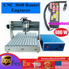 CNC Router Engraving Machine Engraver Cutter 3040 4 Axis Desktop Wood Carving+RC