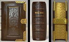 1845 BOOK OF COMMON PRAYER NEW TESTAMENT GAUFFERED EDGES BRASS CLASP CORNERS WOW