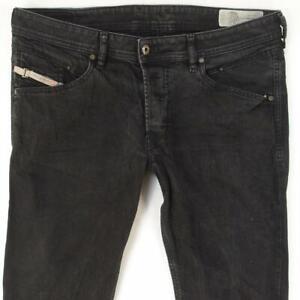 Mens Diesel BELTHER 0886Z Stretch Slim Straight Black Jeans W34 L32