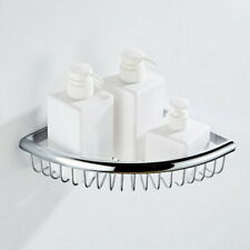 Polished Chrome Wall Mounted Bathroom Shelves Corner Shower Shelf Storage Basket