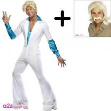 Smiffys Adult Men's Disco Man Costume All in One Jumpsuit With Attached Shirt
