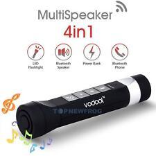4 in1 Waterproof Bluetooth Bike Speaker Mic For Call/ FM /Power Bank /Flashlight