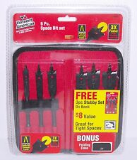 Vermont American 14482 6pc Spade Bit Drill Bit Set and 14494 3pc Stubby Set