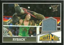 2013 TOPPS BEST OF WWE WRESTLEMANIA 29 RYBACK EVENT USED MAT