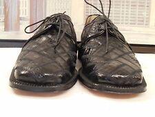 Men's NWOB David Eden Black Genuine Crocodile Skin Oxfords Size 8.5 M