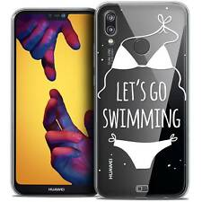 "Coque Crystal Gel Pour Huawei P20 LITE (5.84"") Souple Summer Let's Go Swim"