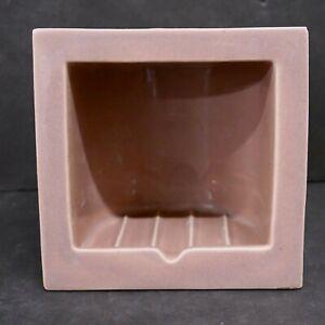 CALCO Vintage Ceramic Soap Dish Mauve