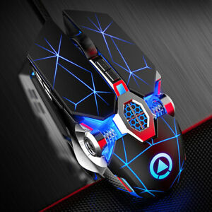 Wired Mechanical USB 7 Button LED Backlit Mute Gaming Mouse Mice Cool