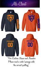 Chicago Bears Logo Football Pullover Hooded Sweatshirt with Custom Name