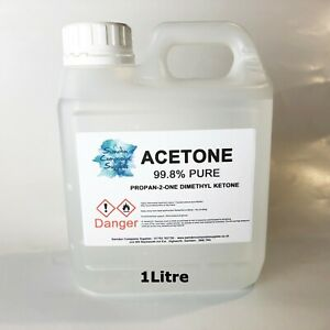 Acrylic Nail Remover, Nail Polish Remover, Pure Acetone,  98% Pure -  1Litre