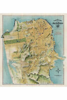 Map of San Francisco by Chevalier; 1912; Antique Map; Custom Printed