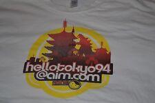 Hello Tokyo 94 AOL Instant Messenger Blogger Video T Shirt Large Sushi Godzilla