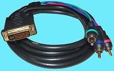 Ultra GOLD 6ft COMPONENT Video Cable RCA female DVI XBOX 360 DVI-I DVI-A