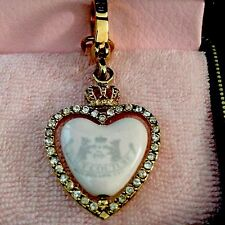 JUICY COUTURE HEART SPINNER CHARM YJRU1085 EXTREMELY RARE  NWT