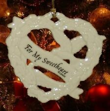 For My Sweetheart Heart-Shaped Ornament w/ Doves - Lenox Fine China - New