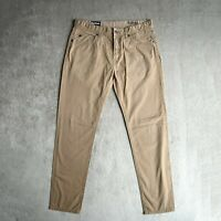 Mens BARBOUR Chino Trousers Size W34 L32 Regular fit Tapered leg Pants Beige