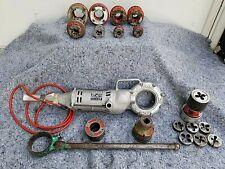 """Rigid Model 700 Power Drive Pony Pipe Threader 1/2-2"""" + Adapters + 12R Die Kit"""
