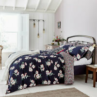 Joules Painted Poppy Floral Navy Bed Linen 180 Thread Count 100% Cotton Bedding