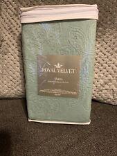"""Royal Velvet King Coralie Damask Pillow Sham 19""""x36"""" Bayberry Green"""