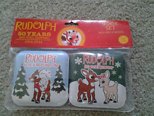RUDOLPH RED NOSED REINDEER 50 YEARS  pair SOFT BABY SQUEEK TOY CHRISTMAS BOOKS