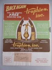 Vtg 1950s Back Again Trophies Trophy Catalog Radios Jewelry Medals Animals