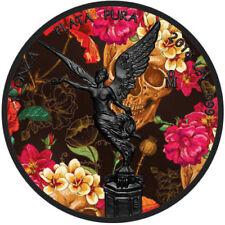 Day Of The Dead 1 oz Libertad Silver Coin Color & Ruthenium - Dia De Los Muertos