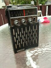VINTAGE ELGIN 12 TRANSISTOR AM/FM PORTABLE R-1400 RADIO, W/ CASE, SOUNDS GREAT!