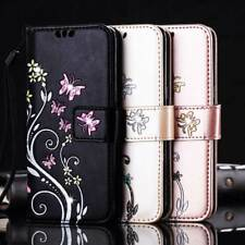 Handy Tasche Bling Wallet Leder Flip Cover Schutz Hülle Etui für Samsung iPhone