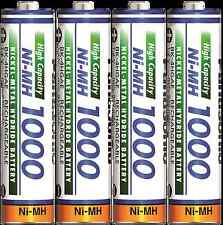 Panasonic High Capacity AAA Micro Akkus Ni-Mh 1000 mAh Accus aufladb. Batterien