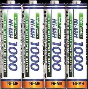 Panasonic High Capacity AAA Micro Akkus Ni-Mh 1000mAh Accus aufladbare Batterien
