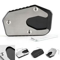 Kick-stand Foot Side Stand Extension Pad CNC For SUZUKI V-STROM1000/DL1000/14-17