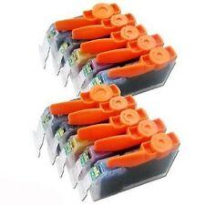 PGI-525BK CLI-526Bk C M Y Compatible Black Colour10 Inks Cartridge Set For Canon