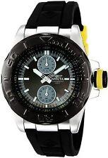 Invicta Men's Pro Diver Black Dial Ocean Baron Rubber Strap Yellow Accents Watch