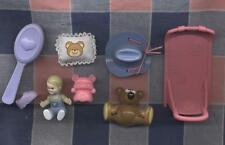 Group Dollhouse Miniatures Lounge Chair Toddler Cowboy Hat Bears Brush Pillow