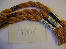 DMC coton perlé N° 3 pour la grosseur et N°436  pour la couleur, long 15 mètres