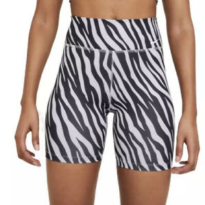 "Nike Women's Dri-Fit One 7"" Printed Compression Shorts Sz. Small NEW CZ9207-596"