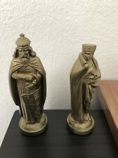 4 inch Black & Gold Medieval Themed Plastic Chess Pieces