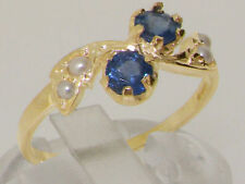 Band Sapphire Yellow Gold Fine Rings