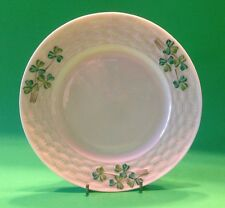 Belleek Basket Weave Shamrock Bread And Butter Plate 3rd Black Mark 1926 -1946