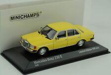 Mercedes-Benz 230 E W123 gelb 1982 1:43 Minichamps