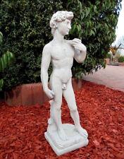 "Gartenstatuen, ""David"" 59 cm, Gartenfiguren, Steinfiguren, Steinguss, Gartendeko"