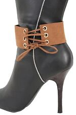 Women Boot Strap Bracelet Western Shoe Charm Jewelry Brown Corset Sexy Accessory