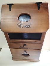 BREAD, ONION AND SPUD/POTATO BOX, WITH OVAL CUTOUT