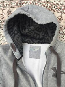 UNDER ARMOUR - Cold Gear- Grey - Cotton Blend - Two Pocket - Zip Up - Hoodie - M