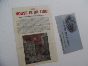 1901 Victor Safe & Lock Co Fireproof Safe Office Desk Outfit Brochure Antique