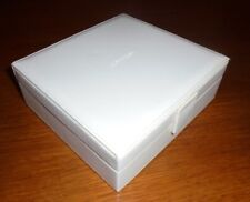 Calvin Klein Gift or Jewelry box, white exterior, light gray interior w/business