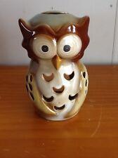 Ceramic Owl Candle Holder