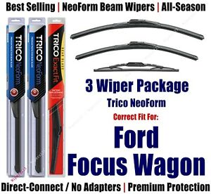 3pk Wipers Front & Rear NeoForm - fit 2000-2007 Ford Focus Wagon 16220/190/10-1
