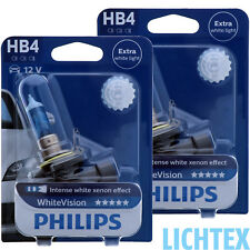 HB4 PHILIPS WhiteVision Intensiver Xenon-Effekt Scheinwerfer Lampe DUO-Box